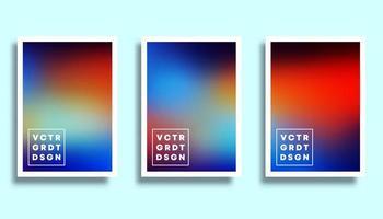 conjunto de fondos de degradado de arco iris colorido vector