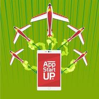 App start up with speed logistic vector