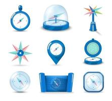 Set of icon compass vector