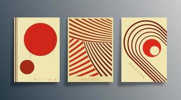 Set of minimal geometric design backgrounds