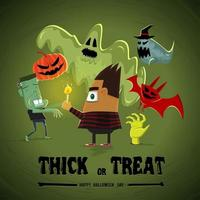 Trick or Treat Boy vector