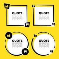 Quote speech bubble template set