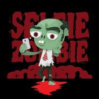 Zombie salaryman taking selfie vector