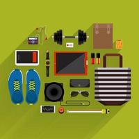 Top view of lifestyle items