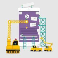 Application display building development vector