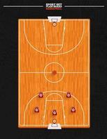 terrain de basket vecteur