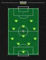 Soccer strategy formation vector