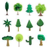 Set of tree cartoon vector