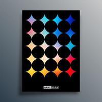 Gradient texture template design vector