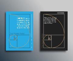 proporción áurea. diseño en espiral de fibonacci vector