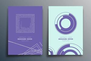plantillas de diseño de líneas abstractas vector
