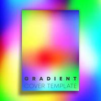 Vivid gradient texture background design vector