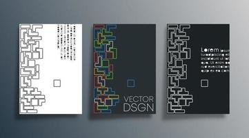 Set of abstract design cover