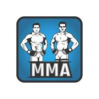 Two MMA fighters standing design