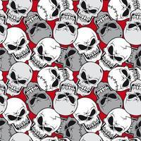 Skull face pattern