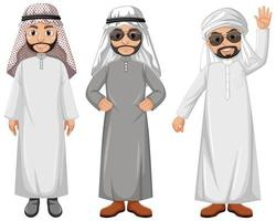 personaje de dibujos animados hombre árabe vector