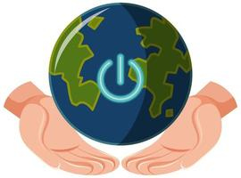 Earth Hour campaign logo or icon turn off your lights for our planet 60 minutes vector