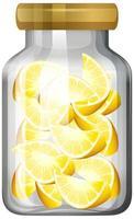 limón en el frasco de vidrio vector