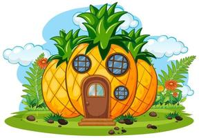casa de frutas de fantasía aislado vector