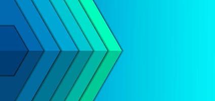 fondo geométrico azul y verde vector