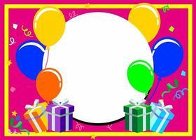 Happy Birthday typography frame vector