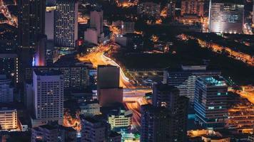 compilación time-lapse en la azotea de la ciudad de kuala lumpur video
