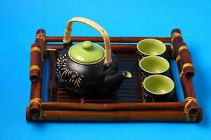 juego de té asiático foto