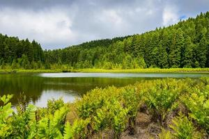 Landscape of Canarios Lake, Sao Miguel Island, Azores, Portugal