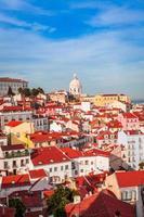 Vista del paisaje urbano de Lisboa, Portugal foto