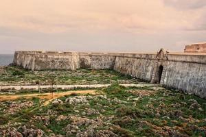 Sagres fortress in rugged terrain