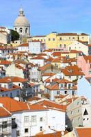 View of Alfama district in Lisbon. Vertical.