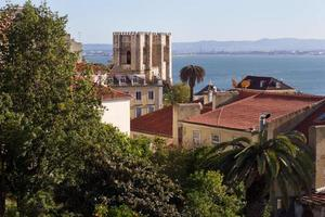 roofs and Cathedral Se in Lisbon, Portugal photo