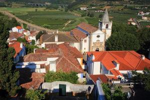 Portugal, Lisbon. Picturesque, medieval town of Obidos.