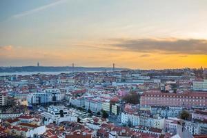 Lisbon with 25th of April Bridge