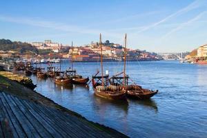 view on city Porto and river Douro photo