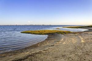 Algarve Cavacos beach twilight landscape at Ria Formosa wetlands photo