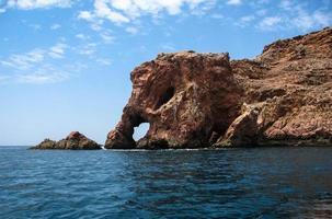 Scenic cliffs and rocks near island Berlenga, Portugal