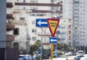 Traffic signs in Havana photo
