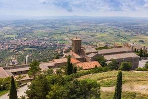 Ciudad medieval de Cortona en Toscana, Italia