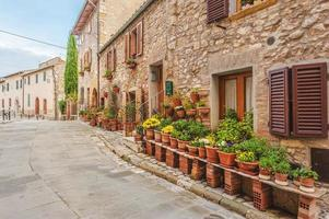 Old Tuscany village in south Italy