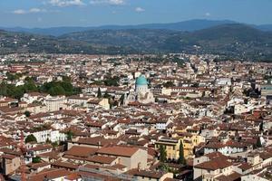Florencia - la vista de la sinagoga principal