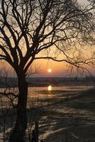 amanecer a principios de primavera
