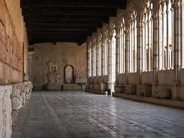 Cloister of Camposanto or Monumental Cemetery in Pisa