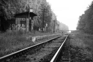 Old Polish Country rail station photo