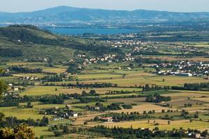 Vista de Val di Chiana en Toscana