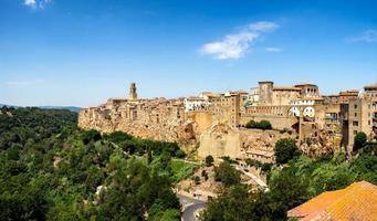 Pitigliano in Umbria with surrounding walls