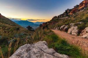 Hills of Capo Gallo, Sicily in Italy photo