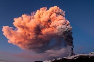 Volcano Etna produces fountain of lava during continued eruption.