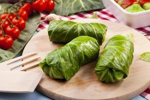 cabbage stuffed with rice and meat