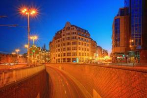 Night urban landscape of Wroclaw